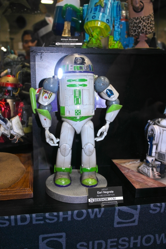 A whole exhibit of dressed up R2D2s! - Buzz Lightyear